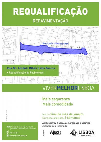 Repavimentação da Rua Dr. Ribeiro dos Santos