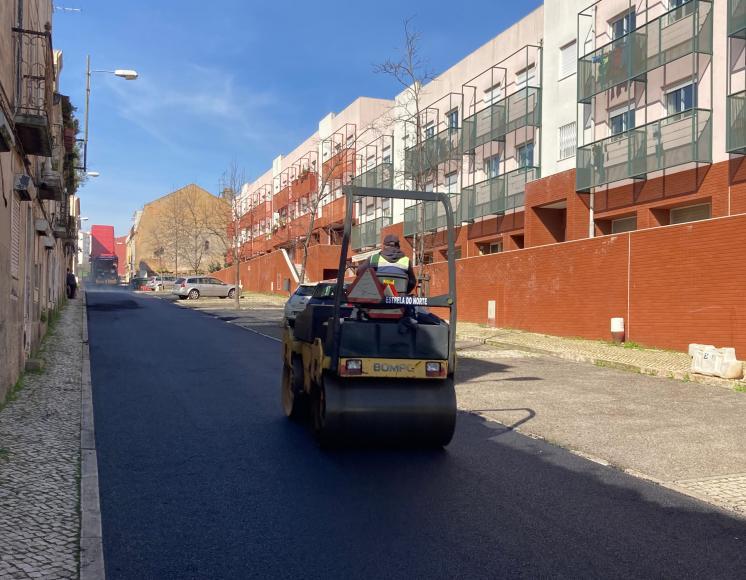 Repavimentação da Rua do Cruzeiro
