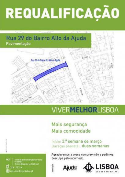 Repavimentação da Rua 29 do Bº Alto da Ajuda